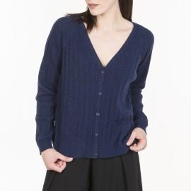 Cardigan moucheté en laine et coton Mélanie