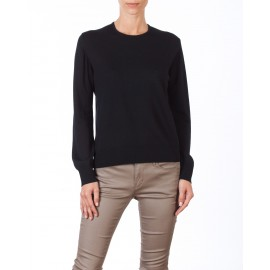 Wool and acrylic round neck sweater Carla