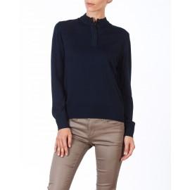 Tunisian collar sweater made of  wool and acrylic Clara