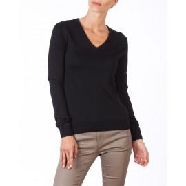 Pull en col V laine en acrylique femme Céline
