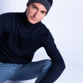 Bonnet bicolore laine mérinos - Fergie