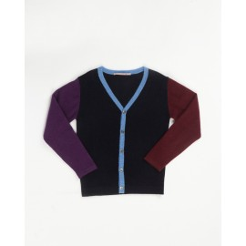 Gilet enfant color block en cachemire Côme