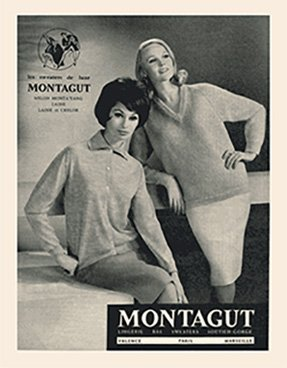 The philosophy Montagut, influence from a French brand of ready-to-wear garments for men and women