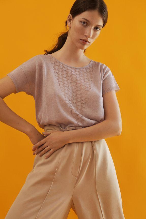 T-shirt à motifs graphique Anna Montagut