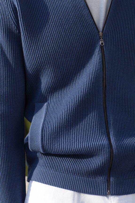 Gilet zippé en laine Blaise Montagut