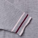 Top en laine côtelée - Ecume 6350 glace - 81 gris pale