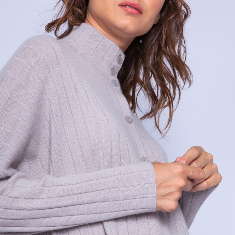 Loose-fit, cashmere jacket with buttons — Gaston