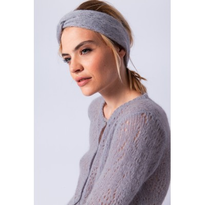 Mohair headband with hemstitching - Evadée