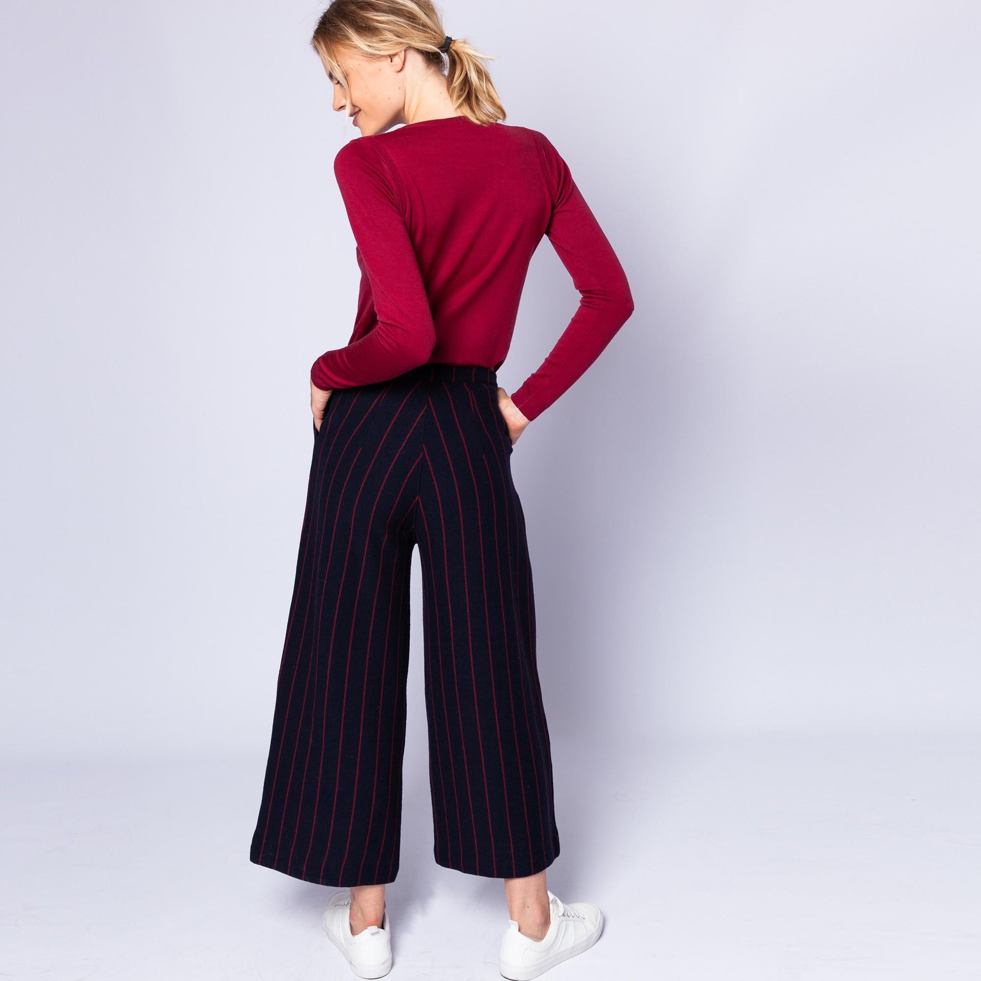 Pantalon rayures tennis en laine et coton - Etienne 962356cd429