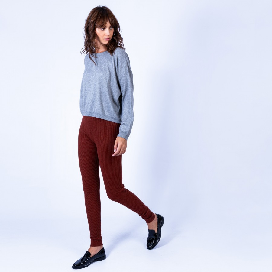 Pantalon en laine Genève 6371 santal - 15 orange