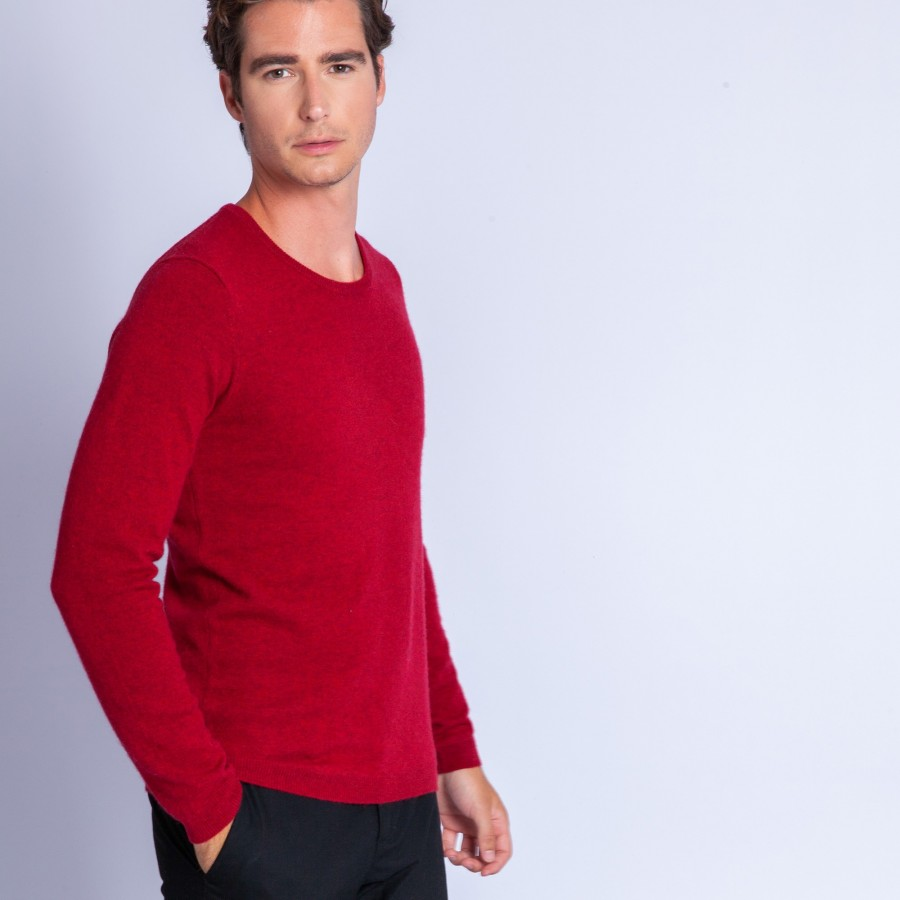 Pull en cachemire Faustin 6343 imperial - 52 rouge