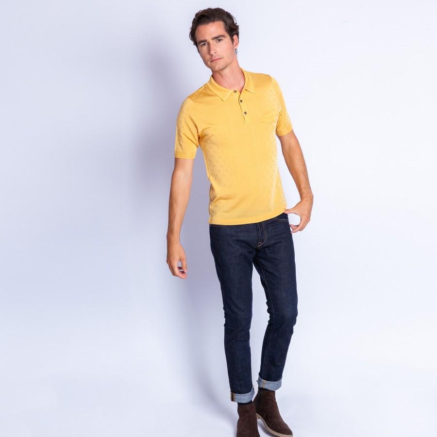 Polo fantaisie Fil Lumière - Etoile 8001 miel - 08 jaune