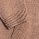 Gilet zippé en cachemire - François 6349 CAMEL - 46 marron clair
