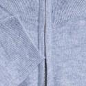Pull col zippé en cachemire Filip 6350 glace - 11 gris clair
