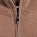 Pull col zippé en cachemire Filip 6349 camel - 46 marron clair