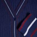 Gilet en laine côtelée - Emblème 6325 navy - 05 bleu marine