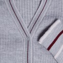 Gilet en laine côtelée - Emblème 6350 glace nude cerise - 81 gris pale
