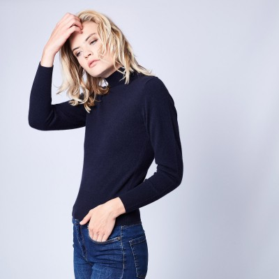 Woman turtleneck sweater 100% cashmere Pigalle