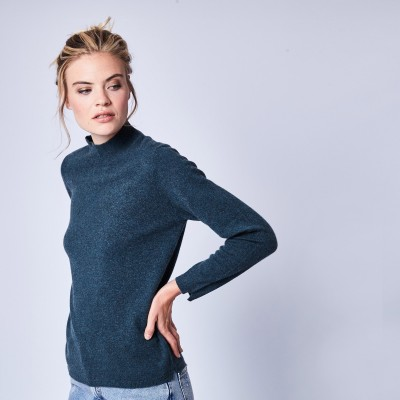 Pull en cachemire col montant Wagram