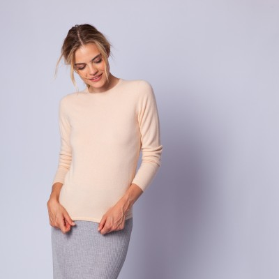 Round neck cashmere sweater - Evana