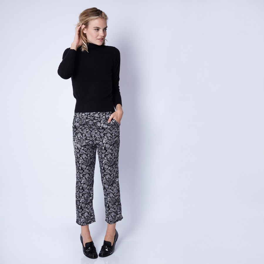 Straight-cut silk trousers by Maison Montagut & Maison Martin Morel -Ginga