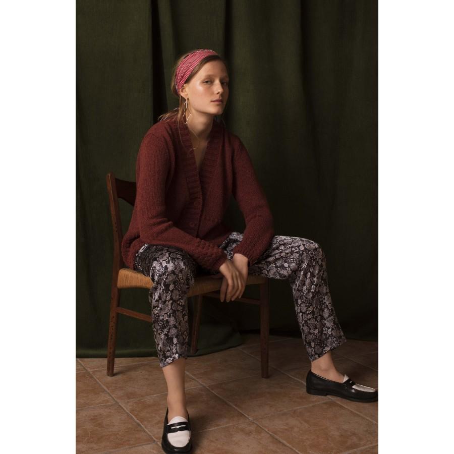 Pantalon droit en soie Ginga 6310 Noir - 01 Noir