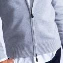 Gilet zippé cachemire homme Vicken 6113 argent chine - 11 gris clair