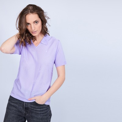 Short-sleeved polo shirt Fil Lumiere - Marjorie
