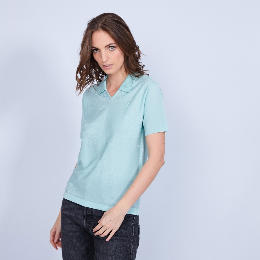 Long-sleeved polo shirt Fil Lumiere - Marjorie