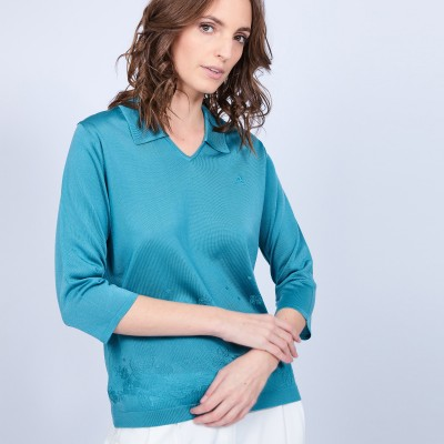 Polo shirt made of Fil Lumière - Murielle