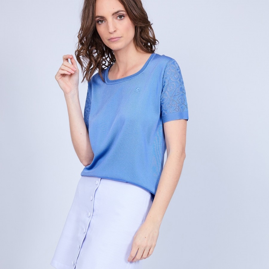 Polo femme Fil Lumière - Marie 8333 Bleuet-06 Bleu moyen