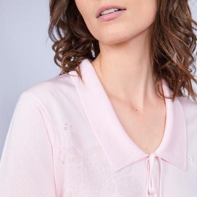 Women's polo-shirt made of Fil Lumière - Mélissa