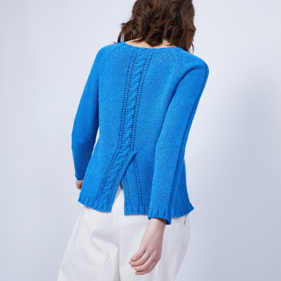 Jumper with back slit - CHARLY