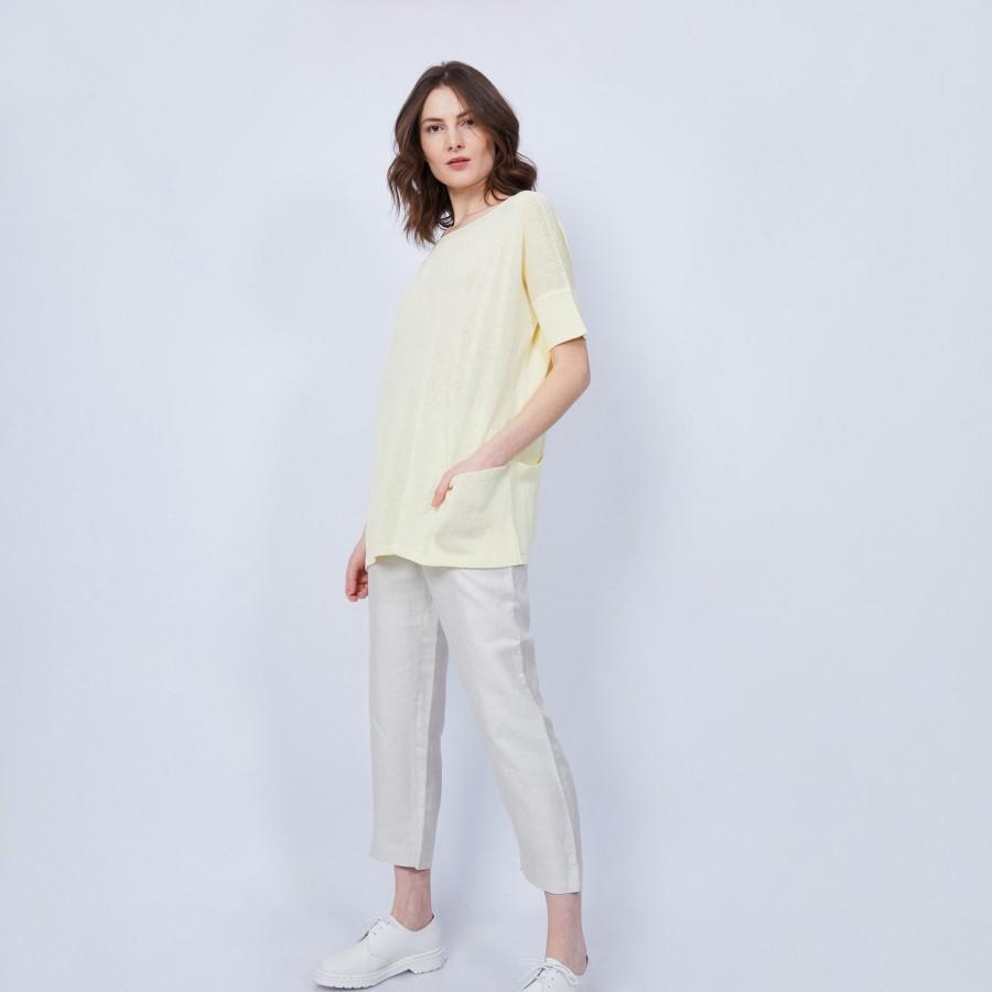 T-shirt ample - Conrad 6462 mimosa - 08 Jaune