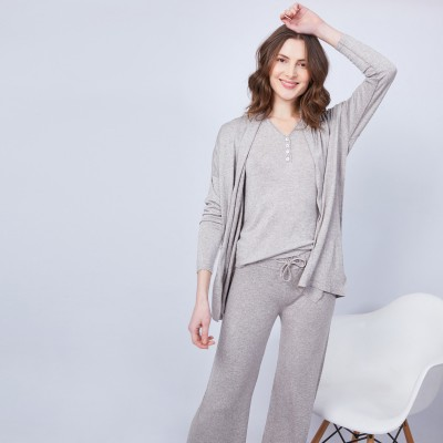 Bamboo cashmere cardigan with shawl collar – Hani