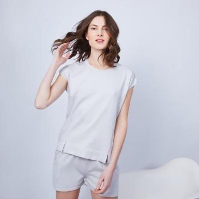 T-shirt en coton et cachemire - Hato