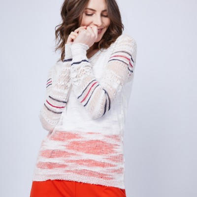 Striped crochet jumper - JANIS