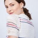 T-shirt à motif col polo - Jumelle 6564 blanc marine fushia - 02 blanc