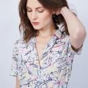 Robe chemise en crêpe de soie Maison Montagut x Maison Martin Morel - Jade 6574 multico - 86 Multicolore