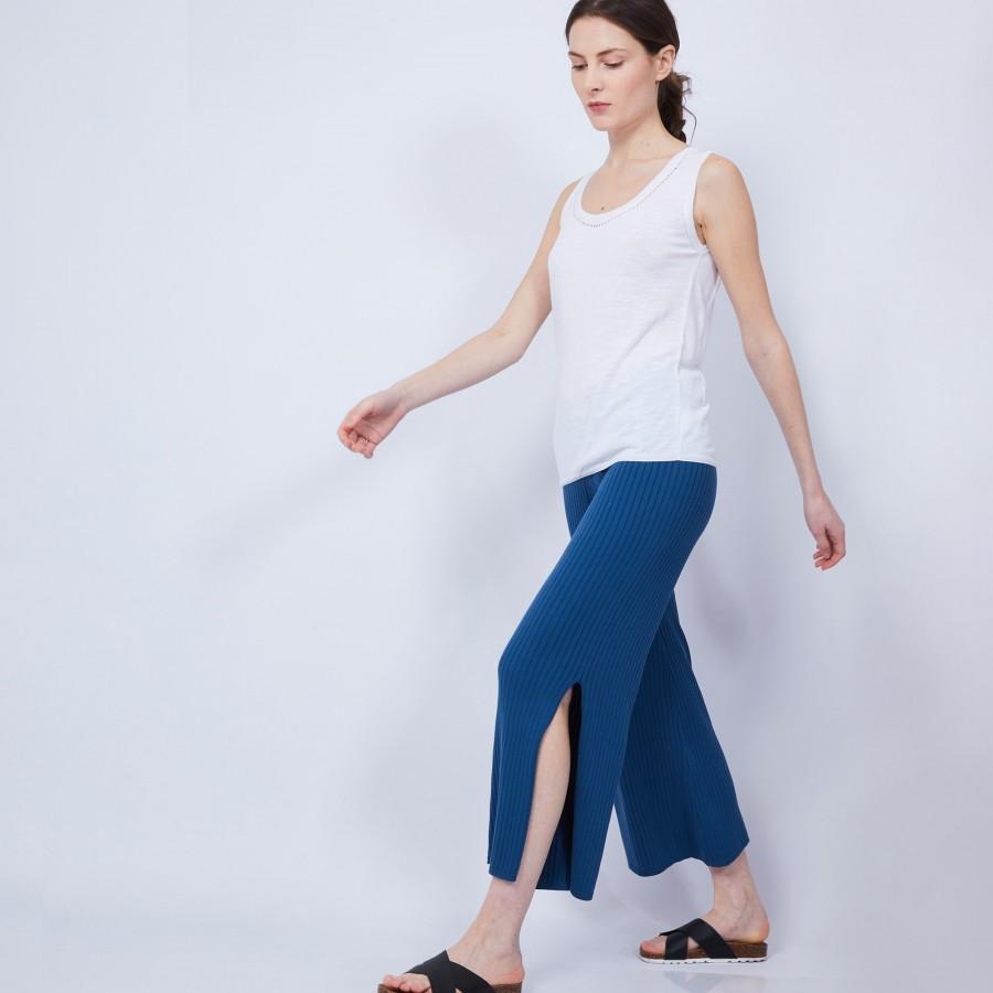 Pantalon large en coton - Jaguar 6447 capri - 03 Bleu foncé