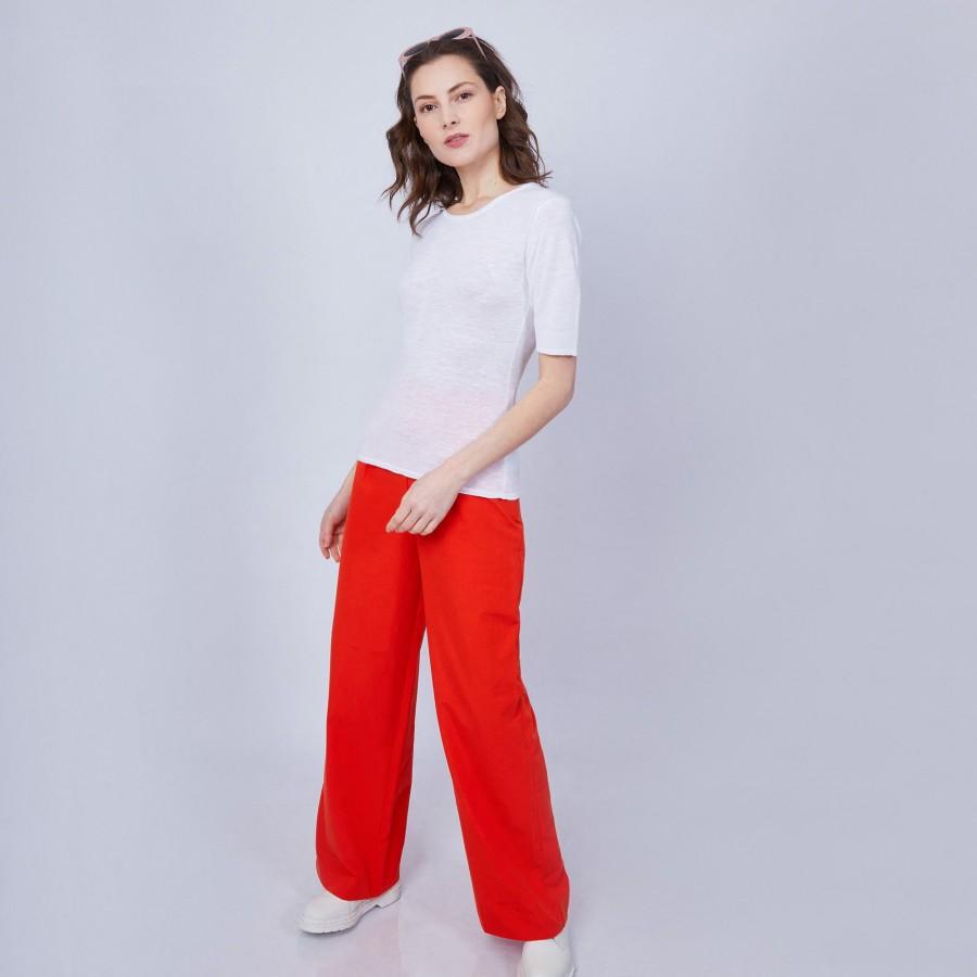 T-shirt uni col rond - Mady 6400 blanc - 02 blanc