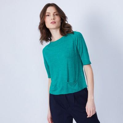 T-shirt 1 poche et pli dos - Maika