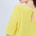 Petit pull en coton manches courtes - Marcelin 6461 acacia - 08 jaune