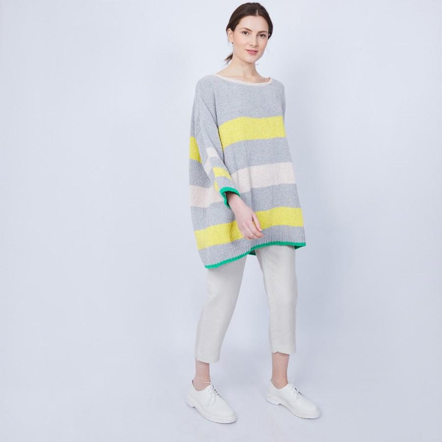 Pull oversize 100% coton - Marly 6524 nuage acacia blush tropique - 08 jaune