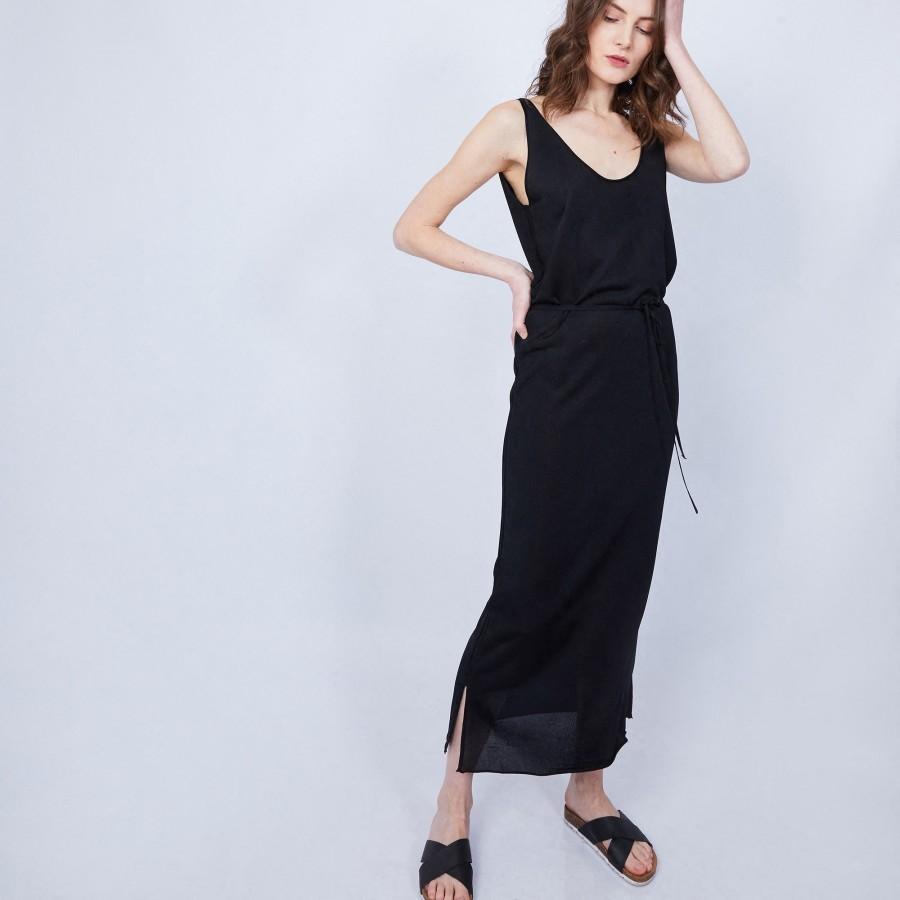 Robe à bretelles en Fil Lumière - Marilou 6410 noir - 01 Noir