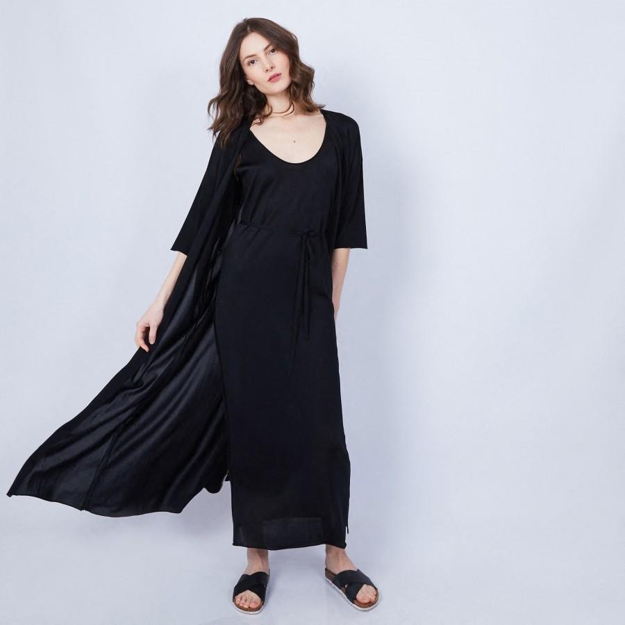 Cape en Fil Lumière - Marlène 6410 noir - 01 Noir