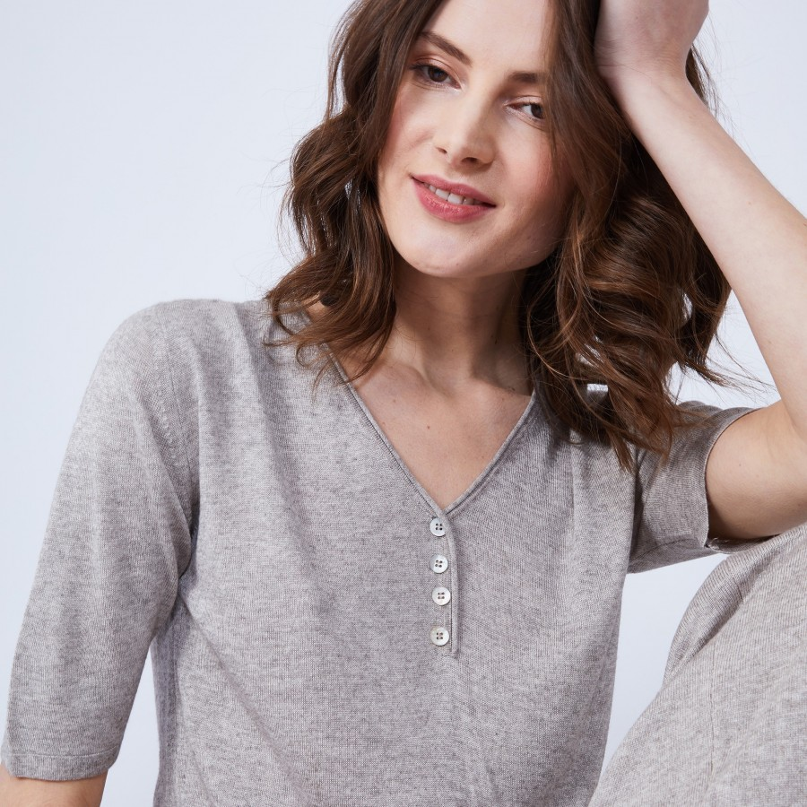 T-shirt in cashmere bamboo - HENNE