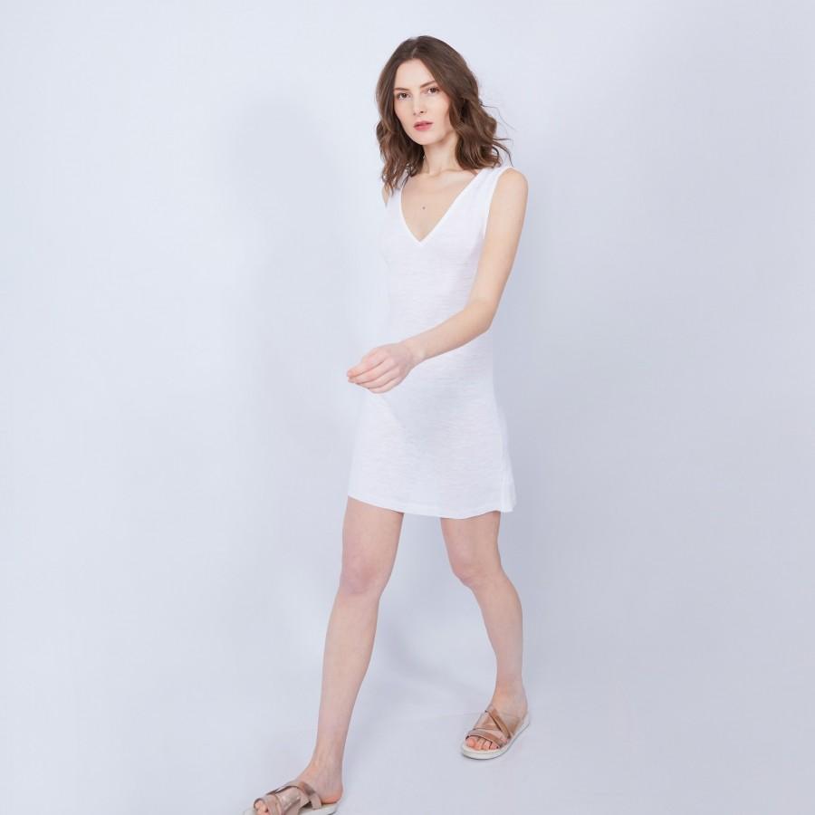 Robe sans manches col V - Jazz 6400 blanc - 02 blanc