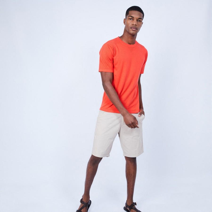 Cotton and silk T-shirt - LARS