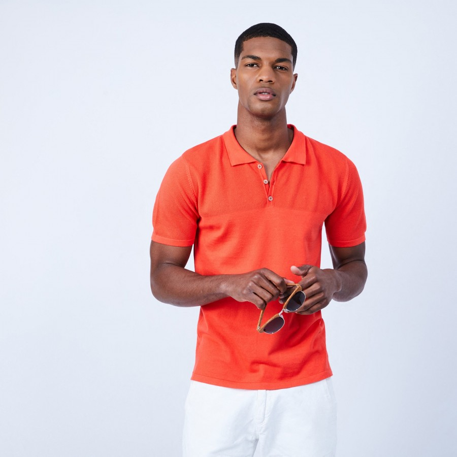 Polo en coton - Laurel 6483 ardent - 15 Orange